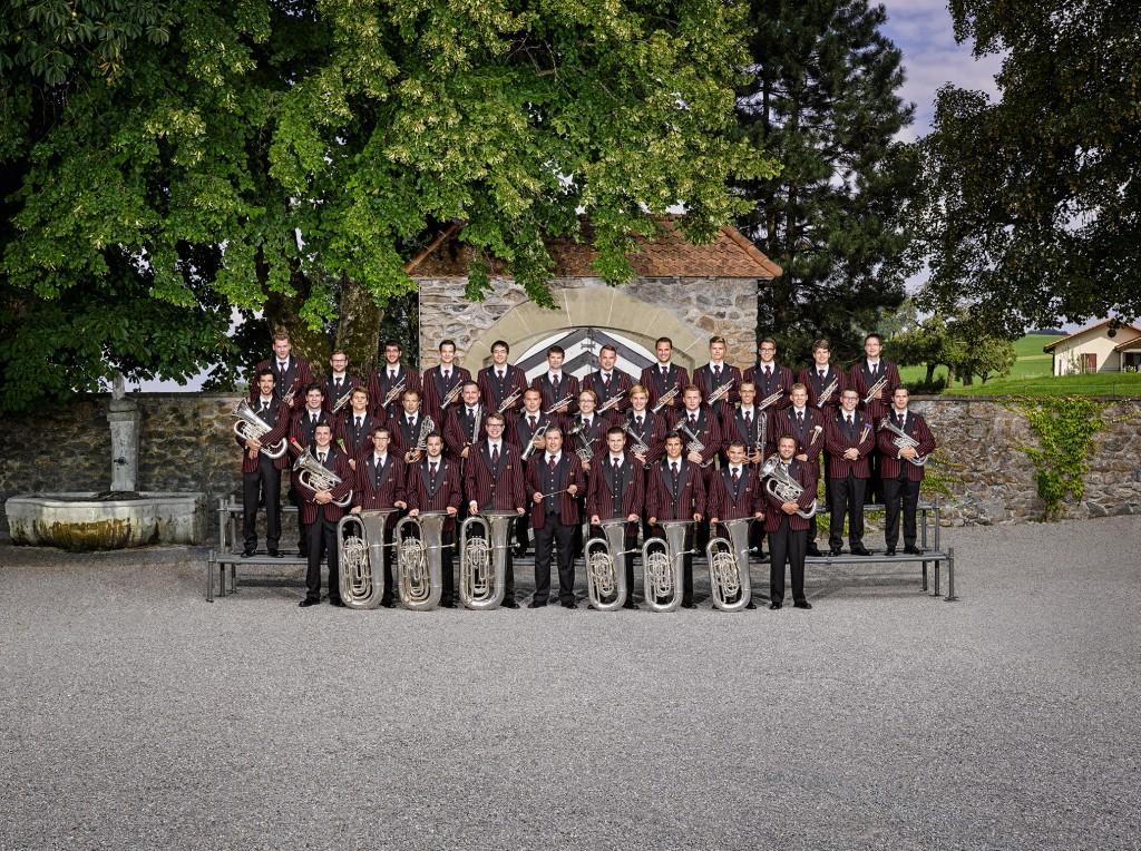 Klangvoller Sommerabend - Die Swiss Army Brass Band spielt am 13. Juli in Ischgl - Eintritt frei. Foto: Schweizer Militärmusik (Abdruck honorarfrei)