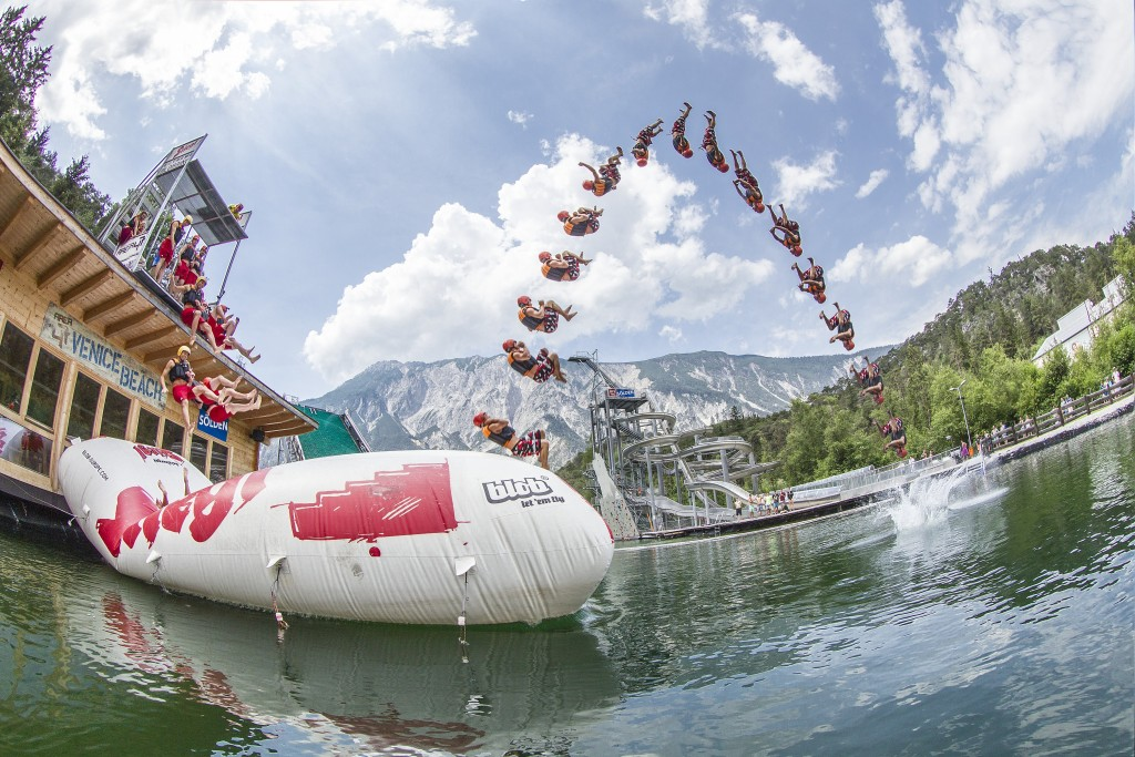 Am 22. Juli vereint die legendäre Lake Party by Rauch wieder Wasser-Action bis zum Abwinken und feinste DJ-Klänge.  Bildnachweis: AREA 47 (Abdruck honorarfrei)