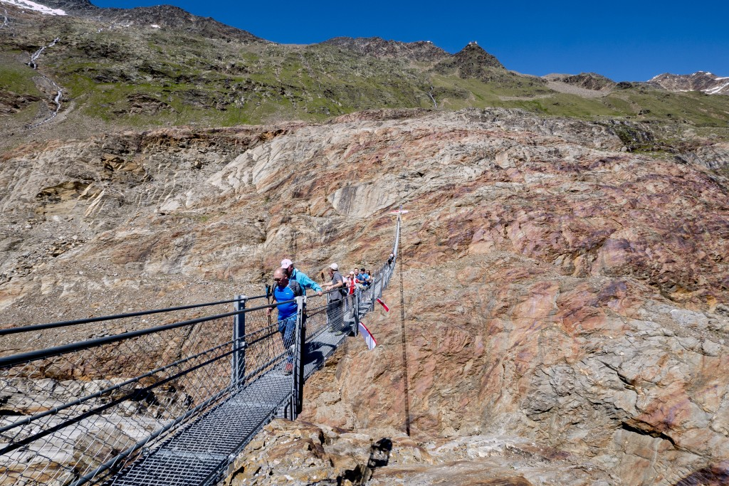 In unmittelbarer Nähe zur neuen Verbindung thront das Ramolhaus auf über 3.000 m.  Bildnachweis: Ötztal Tourismus (Abdruck honorarfrei)
