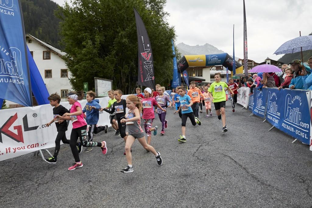 Beim 3. Silvretta Kids Run liefen 88 Nachwuchsläufer von vier bis 15 Jahren am 14. Juli zur Höchstform auf. Hinweise: TVB Paznaun - Ischgl (Abdruck honorarfrei)