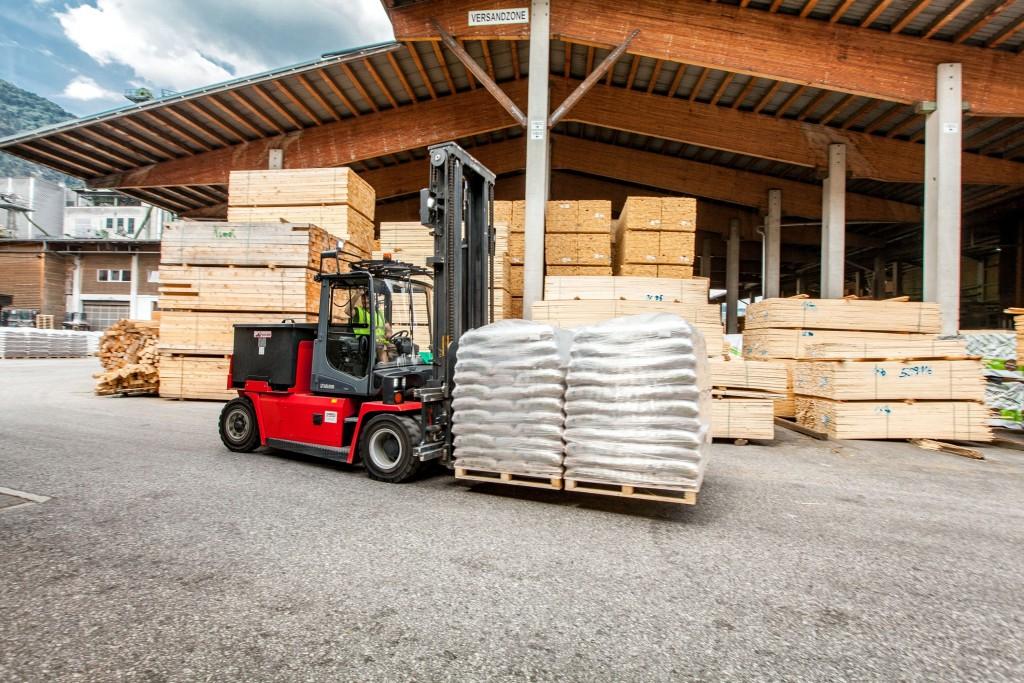 150.000 Tonnen Pellets werden jährlich am Standort in Kundl produziert. Bildnachweis: Pfeifer Group (Abdruck honorarfrei)