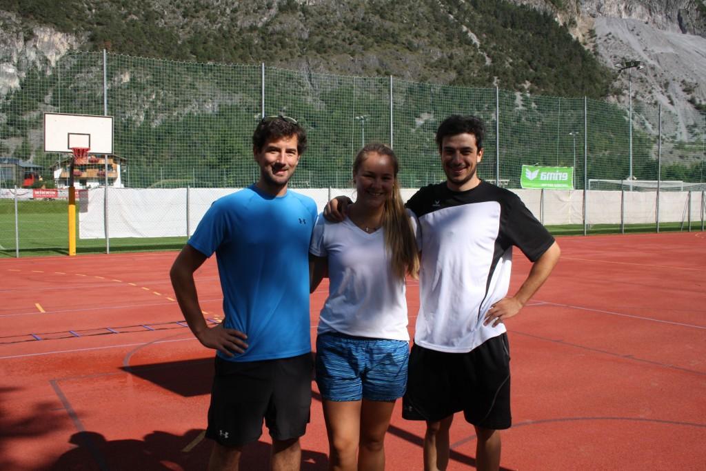Erfolgreiches Trainer-Trio: Armin Wierer, Laura Monz und Simon Purtscher, (v.l.).