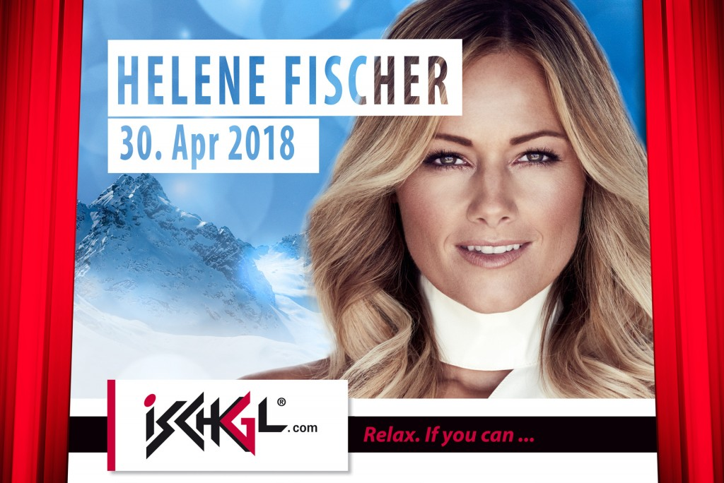 Helene Fischer beim Top of the Mountain Closing Concert 2018. Hinweise: TVB Paznaun - Ischgl (Abdruck honorarfrei)