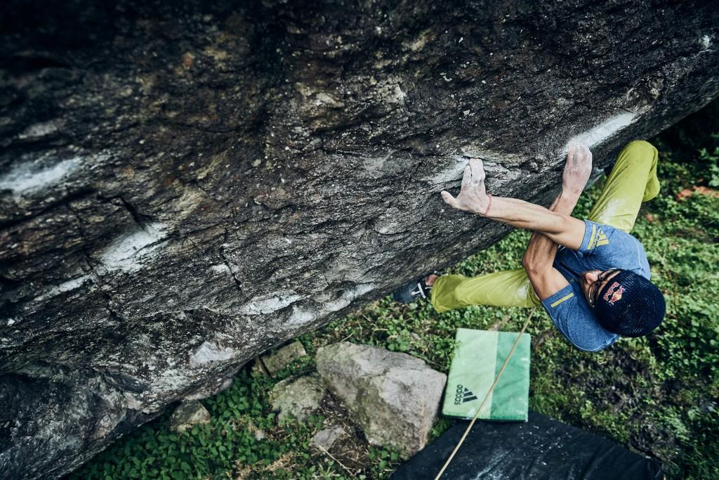 Zu sehen beim Filmfest St. Anton: Kletterkünstler Bernd Zangerl an der Grenze des Möglichen. Bildnachweis: Ray Demski (Abdruck honorarfrei)