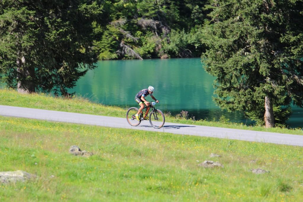 Die landschaftlich schöne Streckenführung hilft die fordernden 38 Kilometer leichter zu bezwingen. Bildnachweis: TVB St. Anton am Arlberg  (Abdruck honorarfrei)