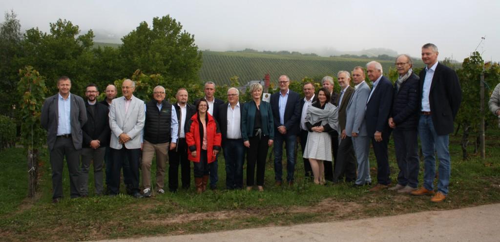 Unter Beisein hoher politischer Prominenz wurde der Partnerschaftsweinberg von Schengen und Ischgl eingeweiht.