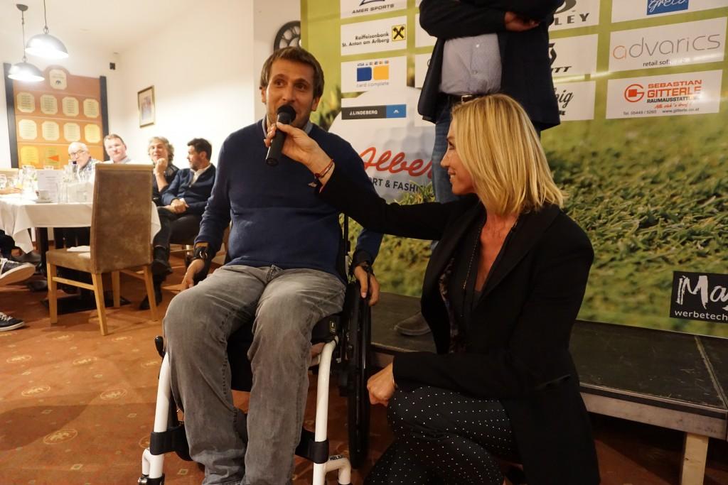 Wolfgang Illkek im Gespräch mit Anita Gerhardter (CEO Wings for Life).