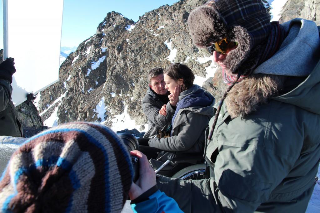 """Die """"Bergdoktor"""" Filmcrew mit Hans Sigl war heuer bereits zum dritten Mal für Dreharbeiten im Kaunertal.  Bildnachweis: Kaunertaler Gletscher (Abdruck honorarfrei)"""