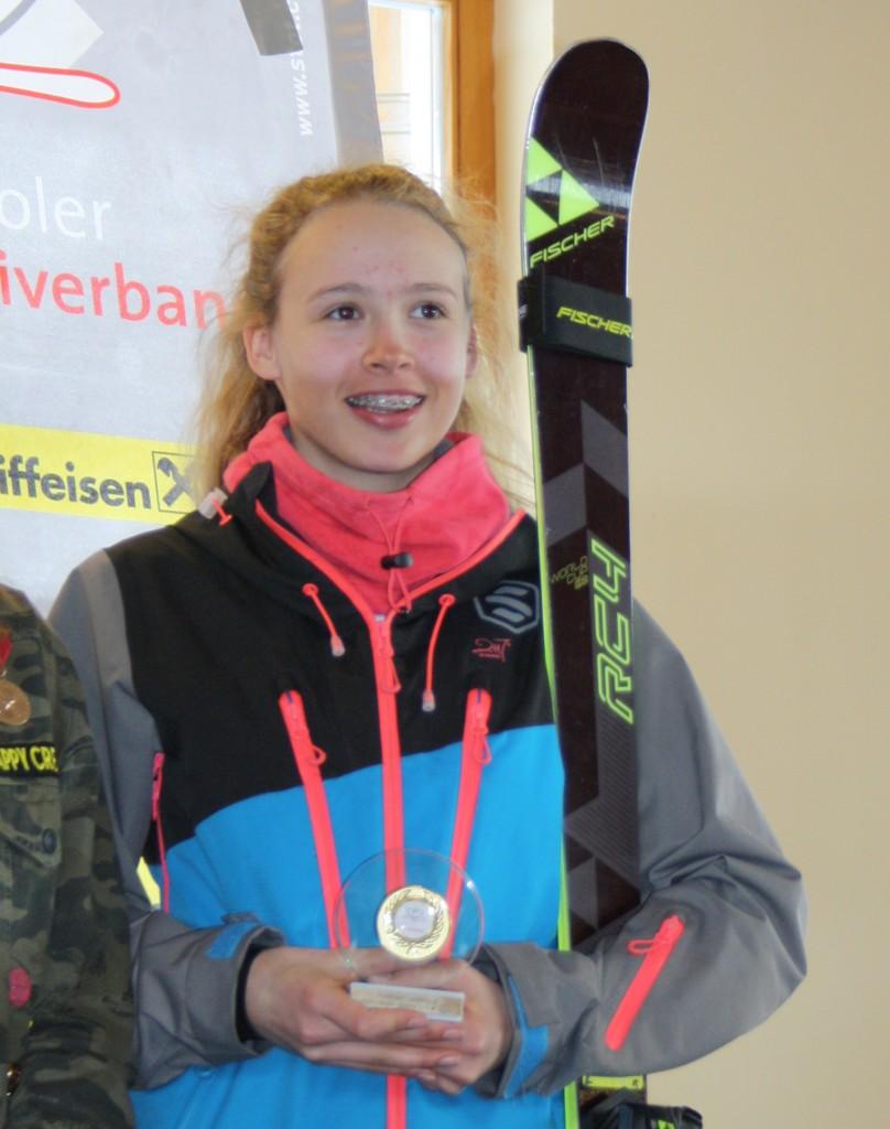 Lena-Maria Ehrhart vom SK Landeck schaffte in Seefeld einen siebten und einen achten Platz – diese Aufnahme zeigt die Athletin beim Landescup-Finale 2017 in Nauders.   Fotonachweis: TSV Bezirk Landeck/Elisabeth Zangerl