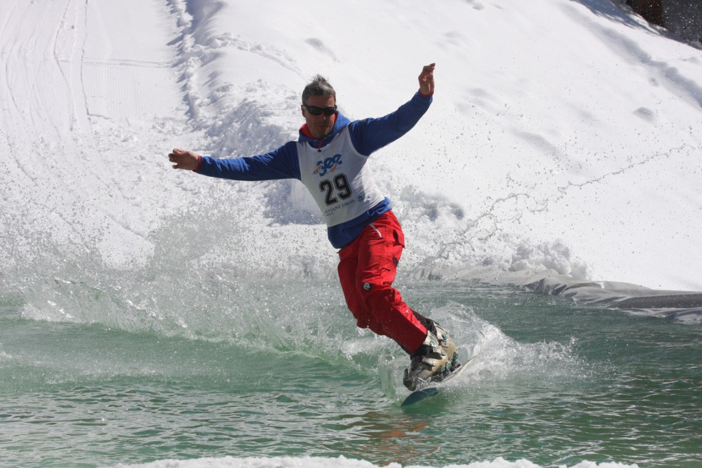 16. Watersurf Contest in See am 31. März 2018. Copyright: TVB Paznaun - Ischgl