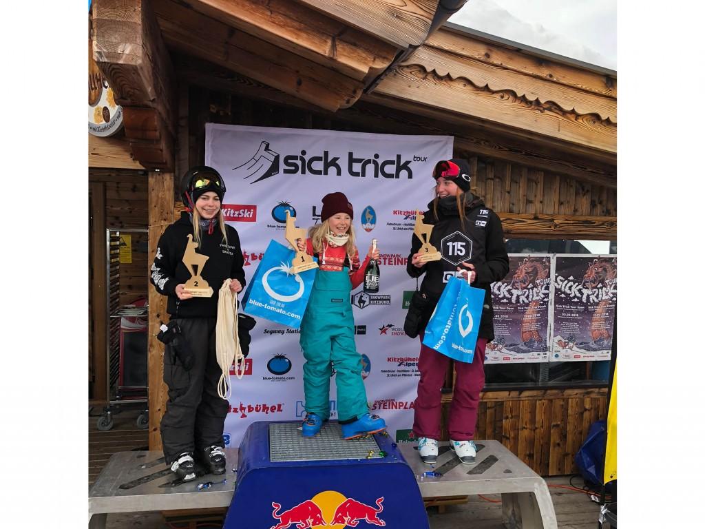 Selina Jäger (SC Kappl/PFT) wurde bei den Mädels Zweite, Victoria Ressel (SFL Freestyle) Dritte Fotonachweis: TSV Bezirk Landeck/Freestyle